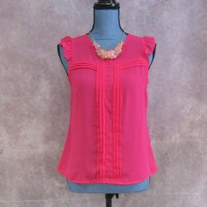 New Nicole Miller Pink Power Blouse Size XS